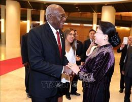 Chủ tịch Quốc hội tiếp Phó Chủ tịch thứ Nhất Hội đồng Nhà nước và Hội đồng Bộ trưởng Cuba
