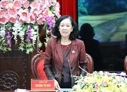 Trưởng ban Dân vận Trương Thị Mai làm việc với Ban Thường vụ Tỉnh ủy Ninh Bình