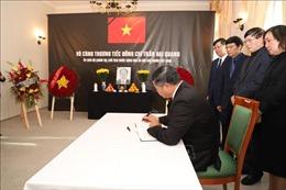 Đại sứ quán Việt Nam tại Đức, Séc, Hà Lan và Thổ Nhĩ Kỳ tổ chức lễ viếng Chủ tịch nước Trần Đại Quang