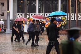 Thủ đô Hà Nội mưa rào ngày Lễ Quốc tang tiễn đưa Chủ tịch nước Trần Đại Quang