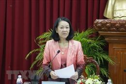 Trưởng ban Dân vận Trung ương Trương Thị Mai làm việc tại Kiên Giang