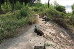 Thái Nguyên: Nguy cơ sạt lở cao tại tuyến đê kè Đô Tân - Vạn Phái