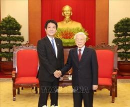 Tổng Bí thư, Chủ tịch nước Nguyễn Phú Trọng nhận thư chúc mừng của Thủ tướng Nhật Bản