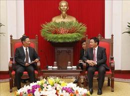 Việt - Lào chia sẻ thành quả nghiên cứu khoa học phục vụ công tác lý luận