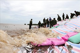 Mưa rất to tại các huyện ven biển Gò Công (Tiền Giang)