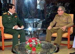 Bí thư thứ nhất Đảng Cộng sản Cuba tiếp Thượng tướng Lương Cường