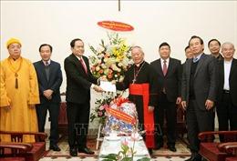 Chúc mừng Giáng sinh Tổng Giám mục Tổng Giáo phận Hà Nội và Hội trưởng Hội thánh Tin lành Việt Nam (miền Bắc)