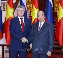 Thủ tướng Nguyễn Xuân Phúc tiếp Chủ tịch Duma Quốc gia Nga
