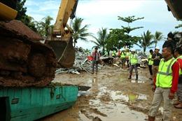 Hàng trăm ngôi nhà vùng ảnh hưởng sóng thần ở Indonesia lại bị chìm trong nước lũ