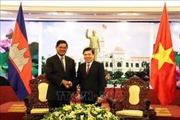 Lãnh đạo TP Hồ Chí Minh tiếp Phó Thủ tướng Campuchia Sar Kheng