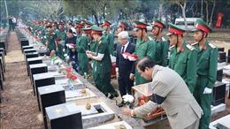 Bình Phước tổ chức lễ truy điệu, an táng 44 hài cốt liệt sĩ