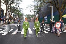 An ninh vẫn được thắt chặt tại khách sạn Melia - nơi lưu trú của Đoàn Triều Tiên