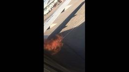 Động cơ máy bay Boeing 737 lại bốc cháy trước khi cất cánh tại Nga