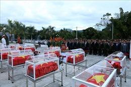 Truy điệu và an táng 26 hài cốt liệt sỹ quân tình nguyện, chuyên gia hy sinh ở Lào