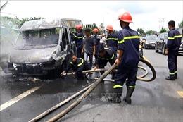 Cháy xe khách ở Đồng Nai, bé trai 14 tuổi tử vong