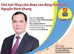 Ông Nguyễn Đình Khang - tân Chủ tịch Tổng Liên đoàn Lao động Việt Nam