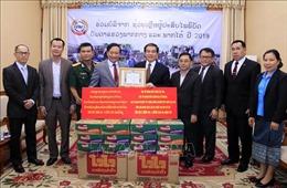Lào tiếp nhận hỗ trợ của cộng đồng người Việt giúp người dân vùng thiên tai