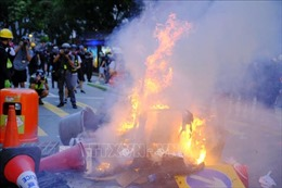 Chính quyền Hong Kong (Trung Quốc) lên án người biểu tình tái diễn bạo lực và phá hoại