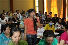 Gỡ khó cho nữ công nhân tại các khu chế xuất, khu công nghiệp