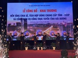 Khai trương Cổng dịch vụ công trực tuyến tỉnh Hải Dương