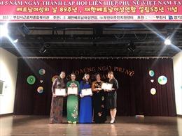 Tưng bừng kỷ niệm 89 năm Ngày Phụ nữ Việt Nam tại Hàn Quốc