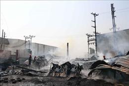 Hỏa hoạn thiêu rụi xưởng phế liệu tại Bắc Ninh