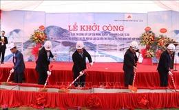 Xây cầu Móng Sến thuộc dự án đường nối cao tốc Nội Bài - Lào Cai đến Sa Pa