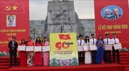 Bắc Ninh tổ chức kết nạp Đảng và tuyên dương đảng viên trẻ tiêu biểu