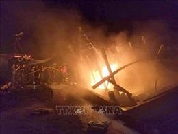 Cà Mau: 3 tàu cá bị cháy do chập điện