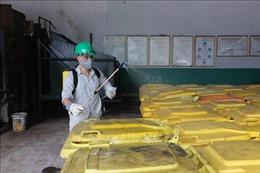 Rác thải khu cách ly phường Trúc Bạch được xử lý theo quy trình rác thải y tế