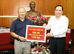 HLV Park Hang-seo ủng hộ 5.000 USD phòng, chống dịch COVID-19