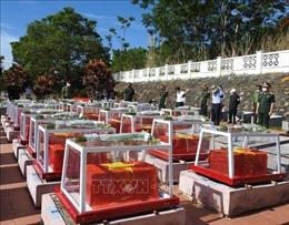 Đắk Lắk tổ chức truy điệu, an táng 13 hài cốt liệt sĩ hy sinh tại Campuchia