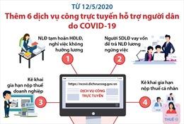 Từ 12/5, thêm 6 dịch vụ công trực tuyến hỗ trợ người dân bị ảnh hưởng do dịch COVID-19