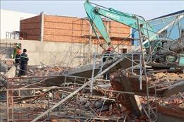 Sập công trình trong khu công nghiệp Giang Điền, 3 người tử vong, 7 người chưa tìm thấy