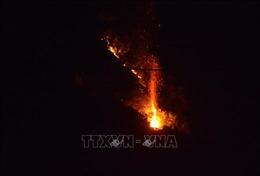 Rạng sáng 26/5, rừng trên núi Sọ vẫn cháy, không thấy lực lượng chức năng tại hiện trường