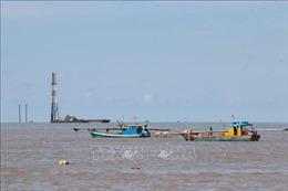 Vị trí móng trụ tua bin Nhà máy điện gió Tân Thuận nằm ngoài phạm vi luồng lạch