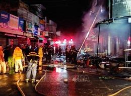 Hỏa hoạn thiêu rụi cửa hàng kinh doanh sơn trong đêm