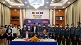 Metfone bàn giao hệ thống hội thảo trực tuyến cho lực lượng Hiến binh Campuchia