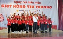 Ngày hội hiến máu 'Giọt hồng yêu thương' tại Sơn La