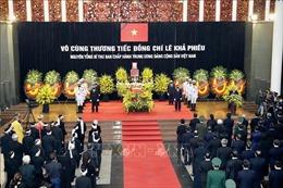 Lễ truy điệu nguyên Tổng Bí thư Lê Khả Phiêu