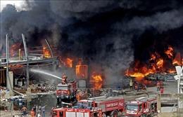 Tổng thống Liban: Vụ hỏa hoạn ở bến cảng Beirut có thể do hành vi phá hoại