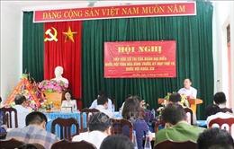 Đại biểu Quốc hội tỉnh Hoà Bình tiếp xúc cử tri