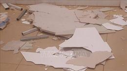 Mảng trần thạch cao bất ngờ rơi tại sảnh chờ Bệnh viện Đa khoa vùng Tây Nguyên