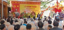 Khánh thành biển lưu niệm sự kiện cách mạng kháng chiến
