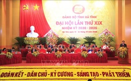 Đồng chí Phạm Minh Chính dự, chỉ đạo Đại hội Đảng bộ tỉnh Hà Tĩnh lần thứ XIX