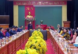 Phó Chủ tịch Thường trực Quốc hội Tòng Thị Phóng làm việc tại Đại học Thái Nguyên