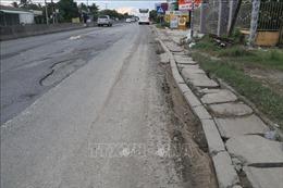 Quốc lộ 1 đoạn qua Tiền Giang bị hư hỏng, không đảm bảo an toàn giao thông 