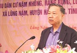 Bộ trưởng Tô Lâm dự Ngày hội Đại đoàn kết toàn dân tộc tại tỉnh Cao Bằng