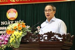 Đồng chí Nguyễn Thiện Nhân dự Ngày hội Đại đoàn kết toàn dân tộc tại Bắc Ninh