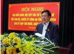 Tiếp xúc cử tri chuyên đề với cán bộ, chiến sĩ Công an tỉnh Thái Nguyên